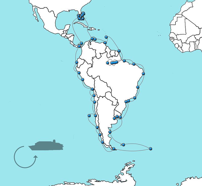 Grand voyage Zuid-Amerika en Alaska