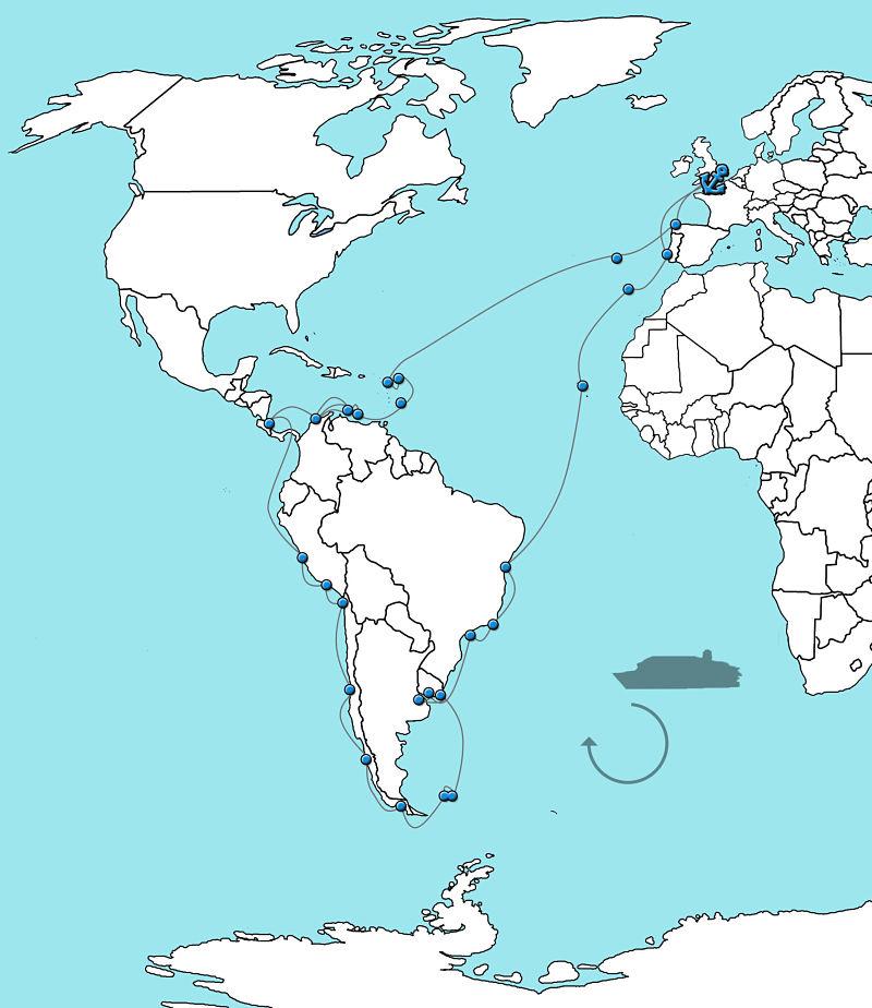 Zuid-Amerika cruise Balmoral 2020