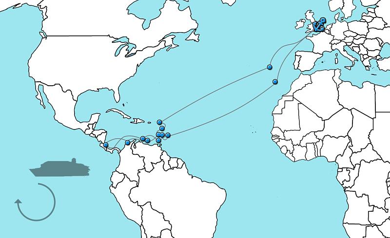 Cruise naar de Caribbean Ventura 2020