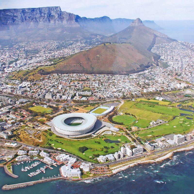Uitzicht boven Kaapstad