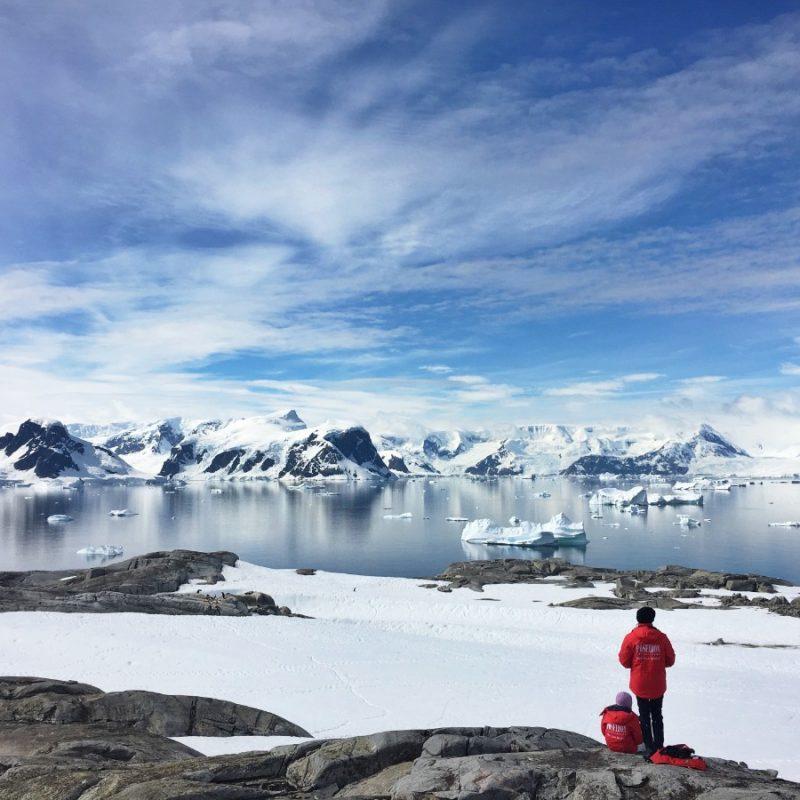 Uitzichten bewonderen op Antarctica