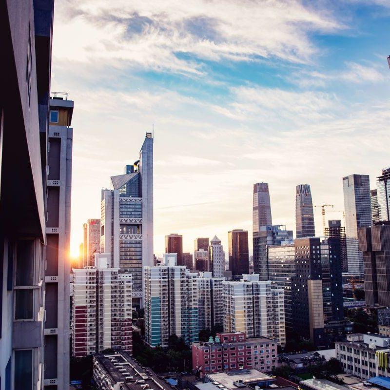 Nieuwe wolkenkrabbers in Beijing