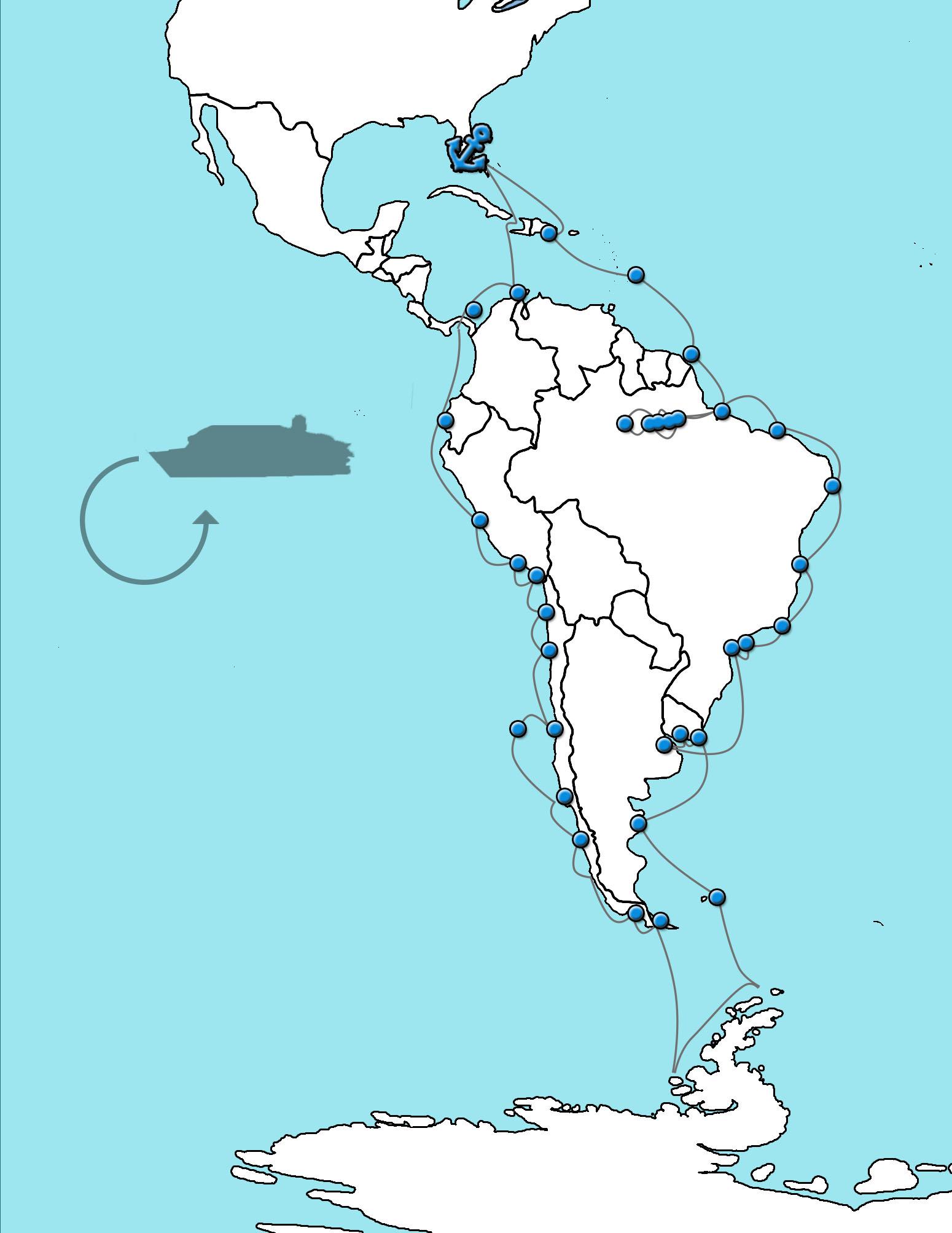 Grand voyage Zuid Amerika 2021 HAL