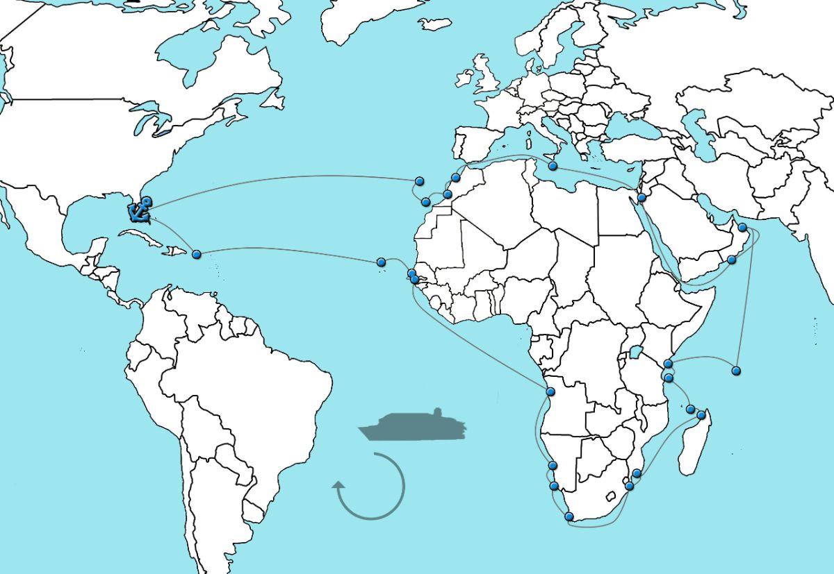 Wereldcruise afrika 2020 - Holland America Line