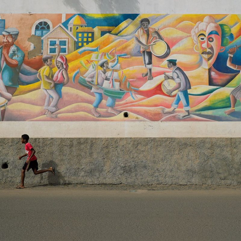 De straten van Mindelo Kaapverdië
