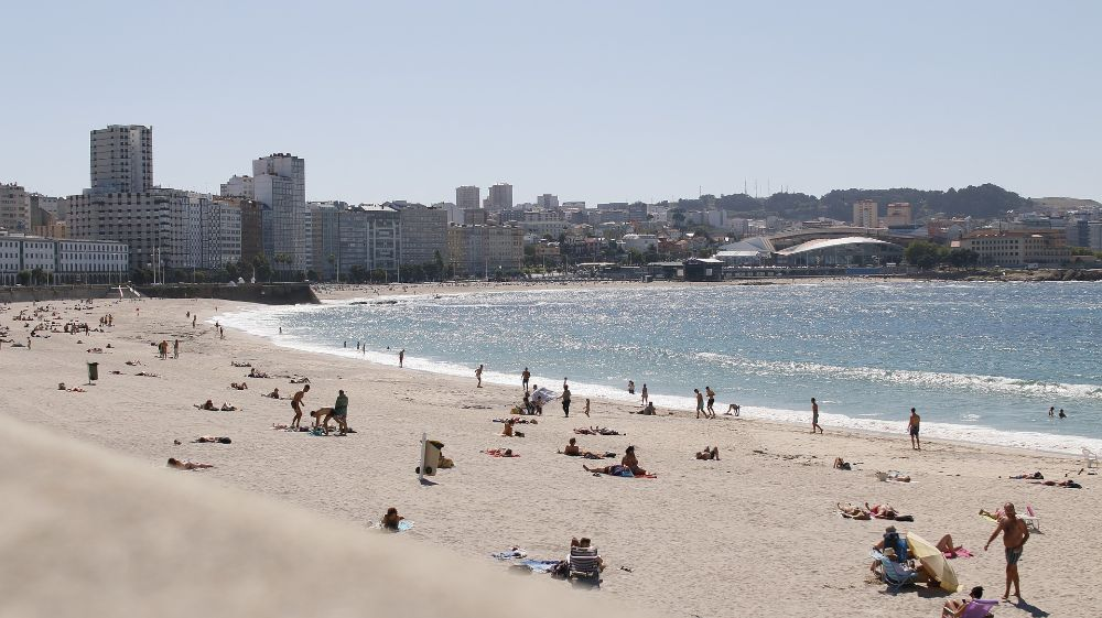Het strand van La Coruna