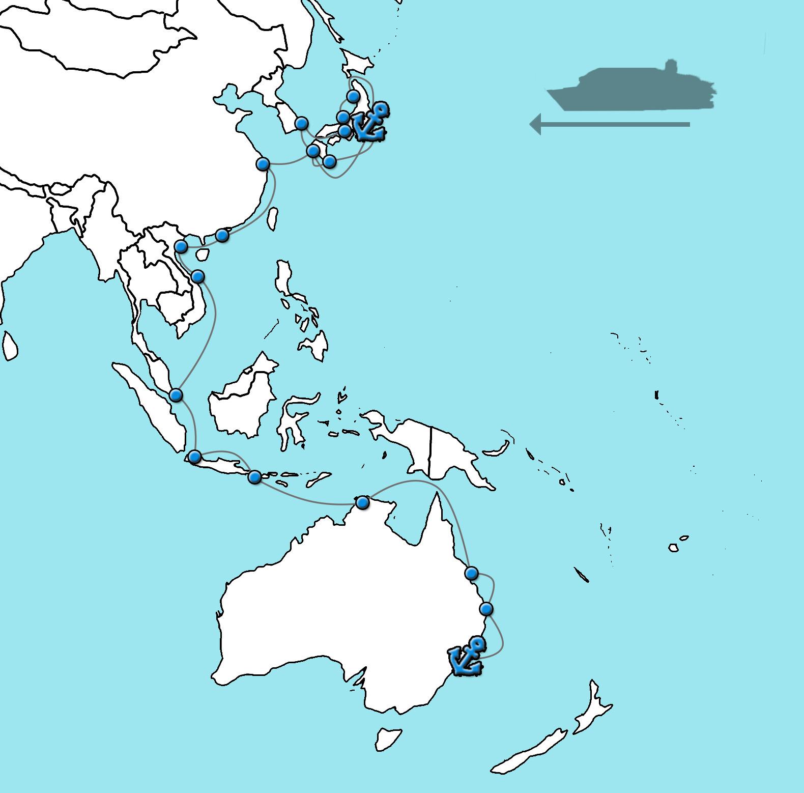 Cruise Queen Elizabeth Azië Australië 2021