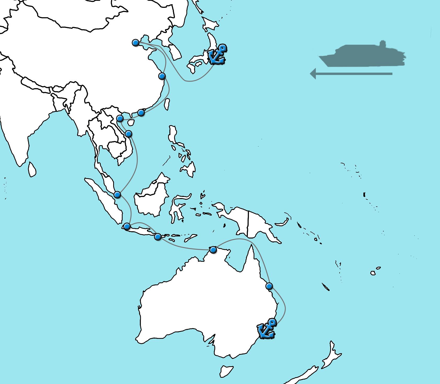 Sydney naar Tokyo Queen Elizabeth 2022