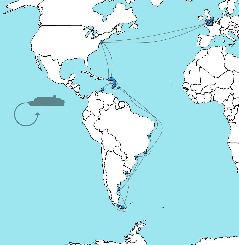 Cruise naar Caribbean & Zuid-Amerika met Queen Mary 2 in 2022