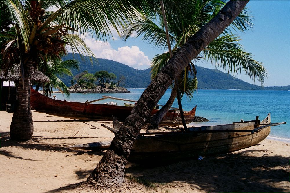 Nosy be strand in Madagascar