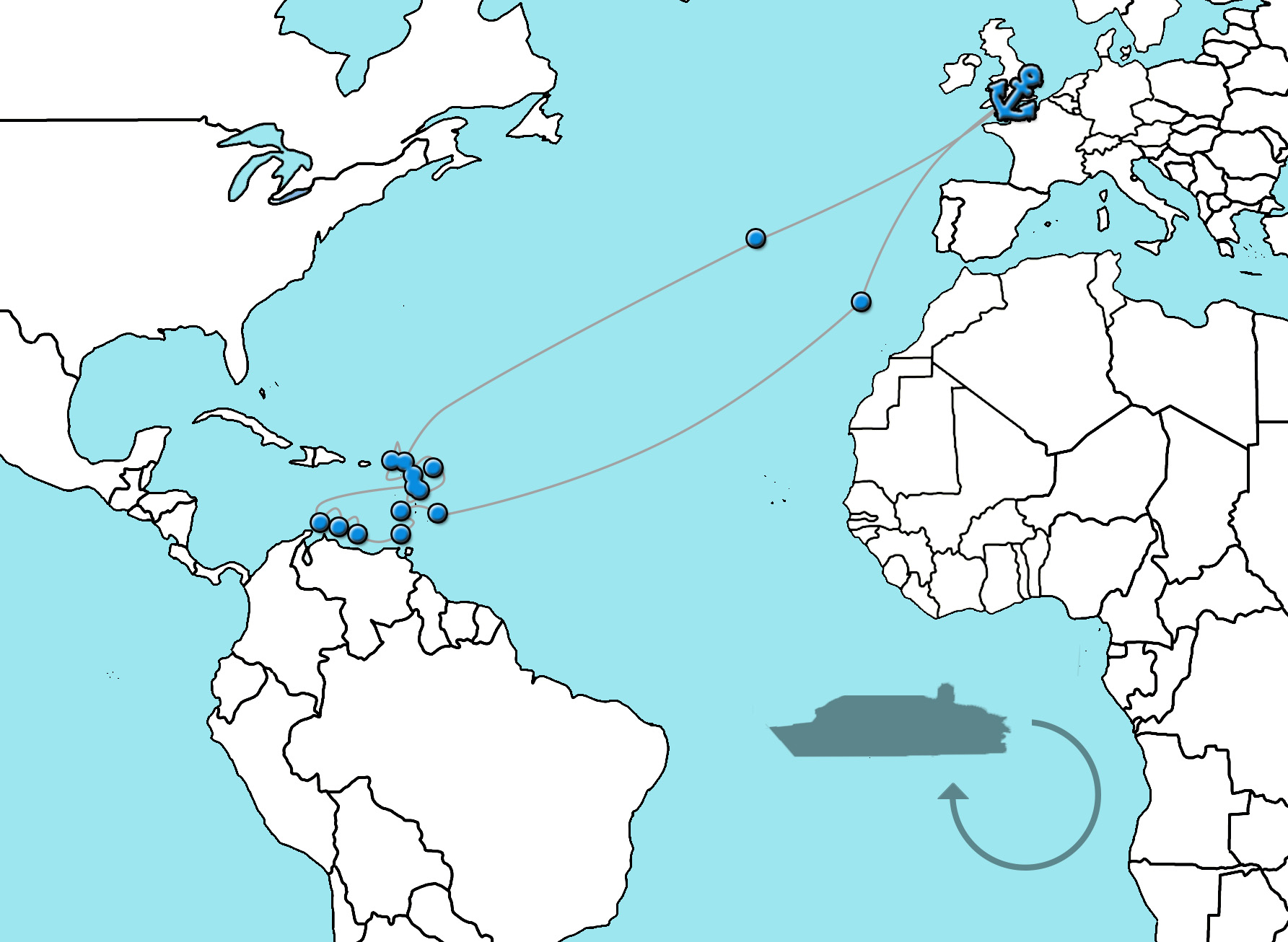 Cruise naar de Caribbean - Ventura 2022