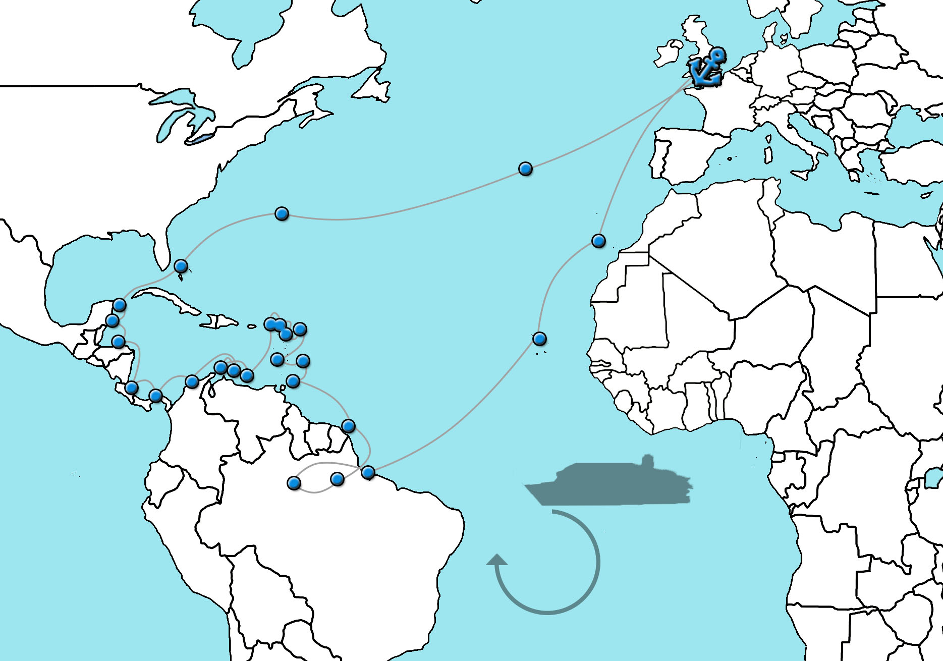 Cruise naar Centraal Amerika en de Caribbean 2022 Arcadia