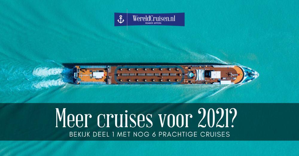 Meer cruises - 2021
