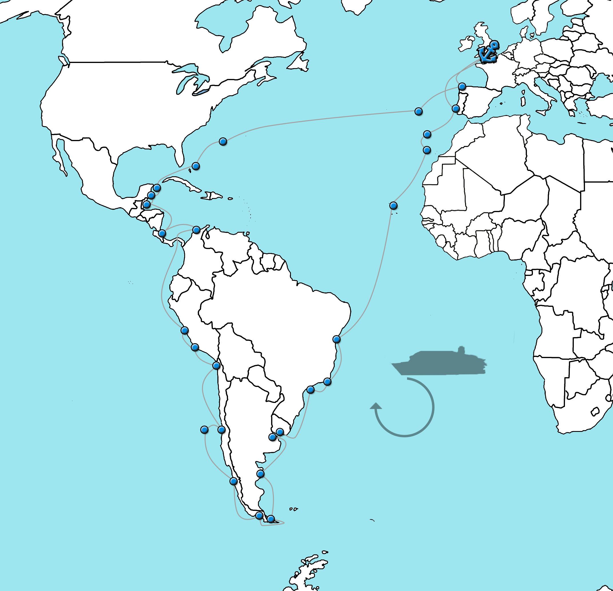 Cruise naar Latijns Amerika - Bolette 2022